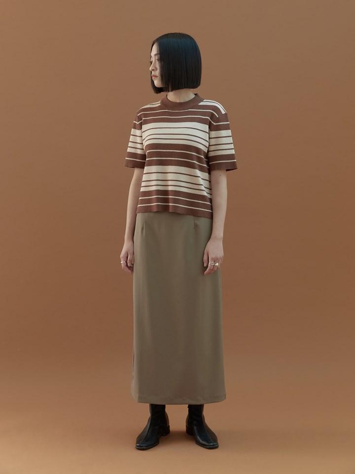雙色條紋針織上衣