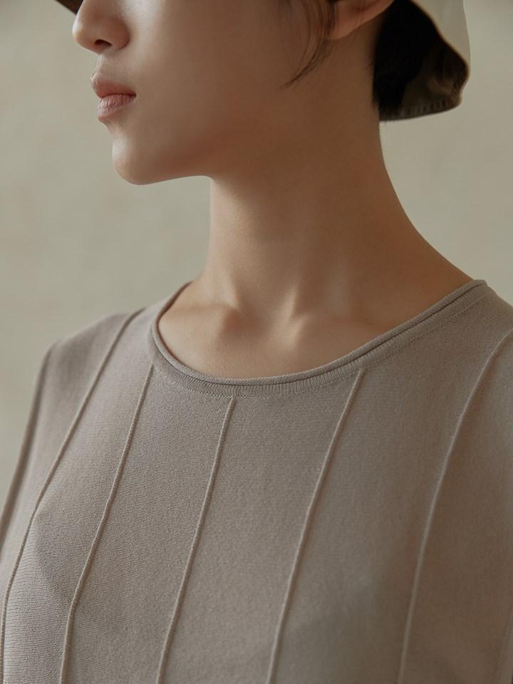 條紋微透膚針織背心