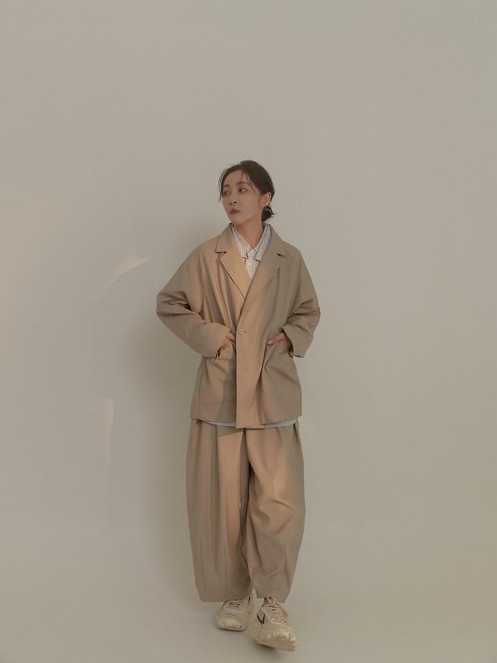 兩件式連袖西裝外套