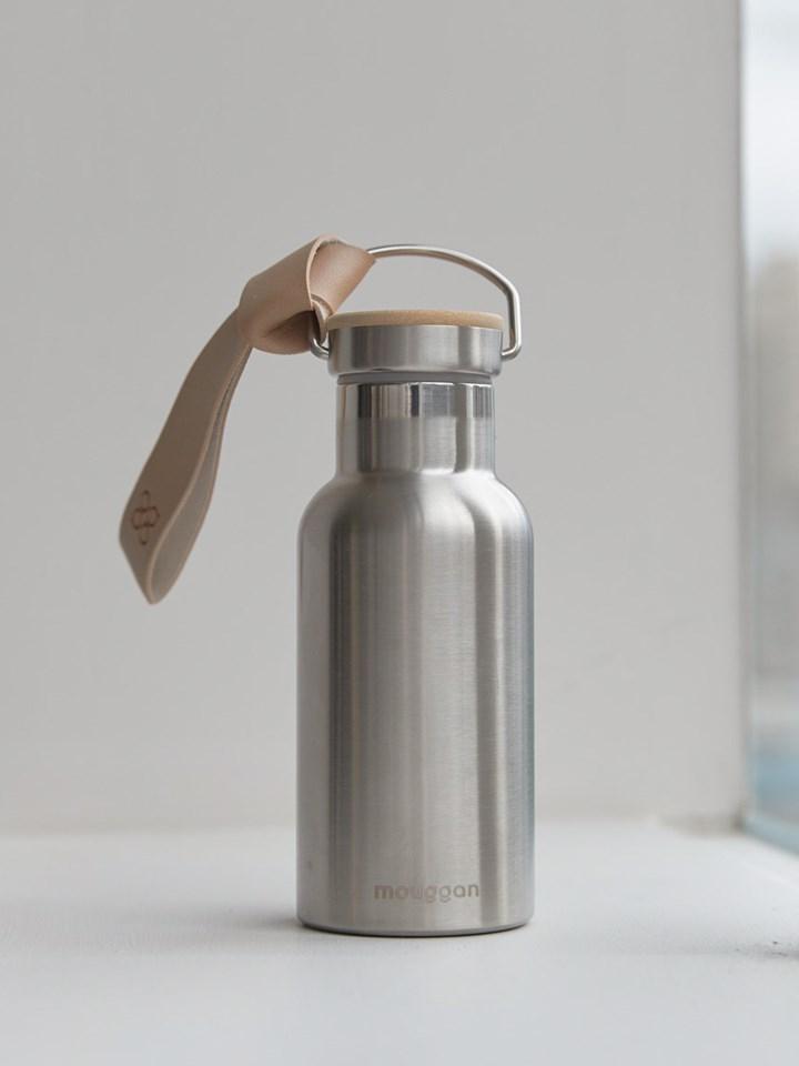 mouggan皮革提把水瓶