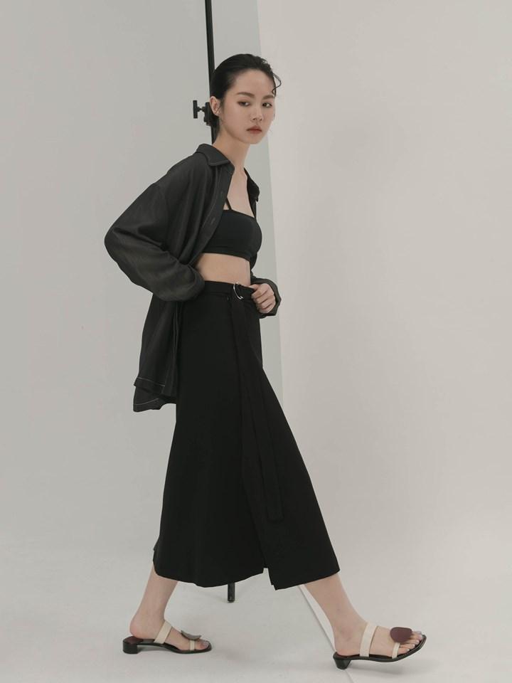 垂墜裁片半身裙