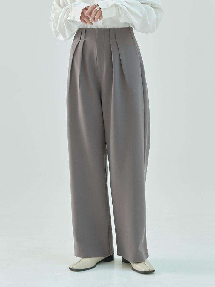 立體打褶設計高腰褲